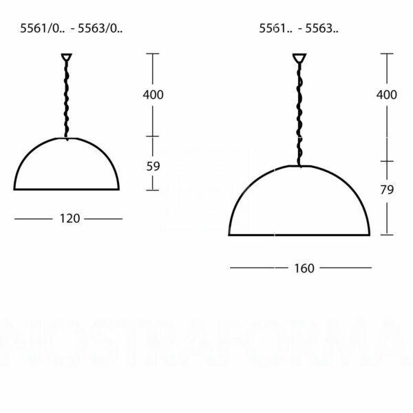 FontanaArte Hängeleuchte Avico 160 cm - Lampen & Leuchten