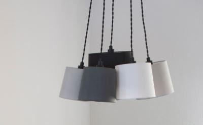 By Rydéns Hängeleuchte Foggy 5-flammig Sand Schwarz - Lampen & Leuchten