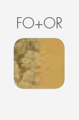 Icone Deckenleuchte Pop 8 Farbmuster Blattgold_Gold