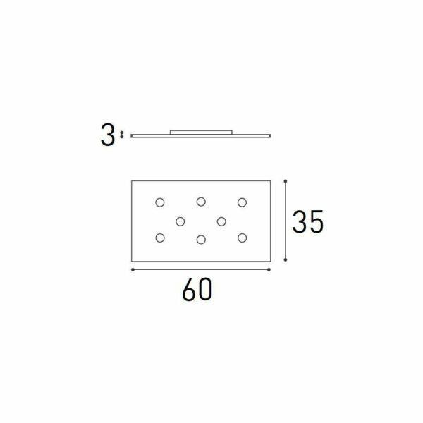 Icone Deckenleuchte Pop 8 36 W 3000 K - Lampen & Leuchten