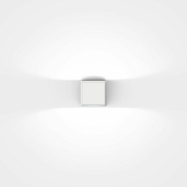 IP44.de Wandaußenleuchte Gap Q Pure White Frontansicht
