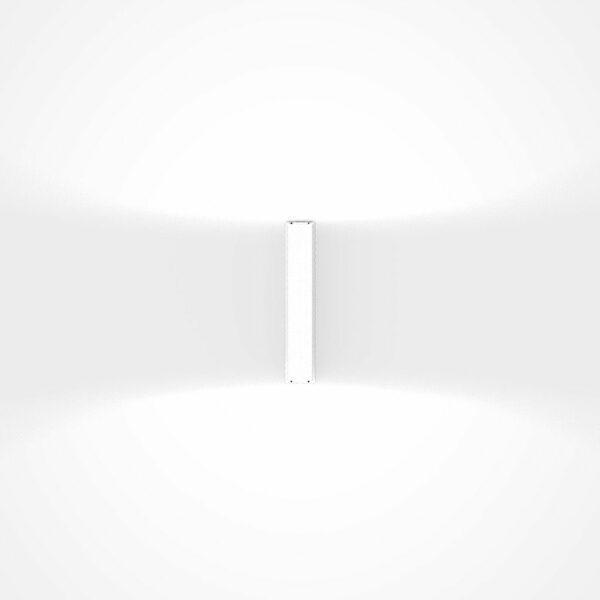 IP44.de Wandaußenleuchte Gap Y Pure White Frontansicht