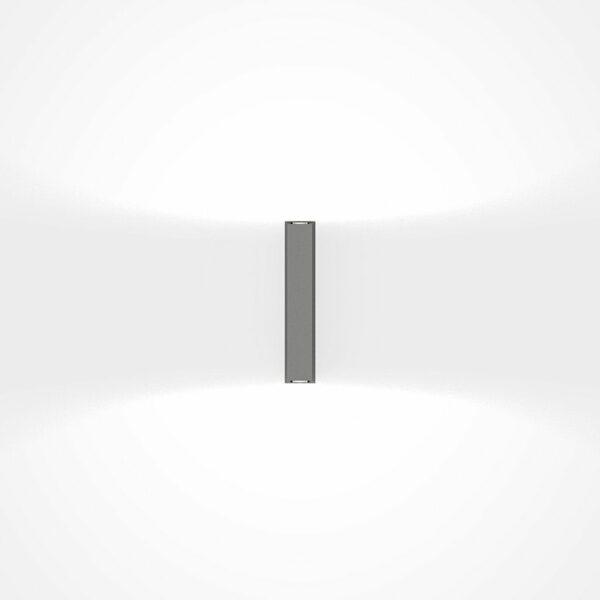 IP44.de Wandaußenleuchte Gap Y Space Grey Frontansicht