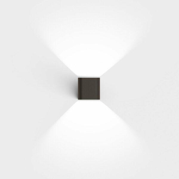 IP44.de Wandaußenleuchte Intro Cool Brown Frontansicht