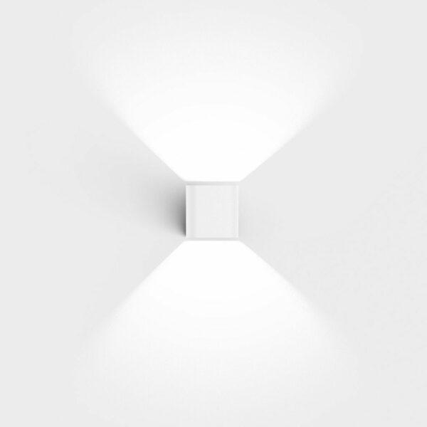 IP44.de Wandaußenleuchte Intro Pure White Frontansicht