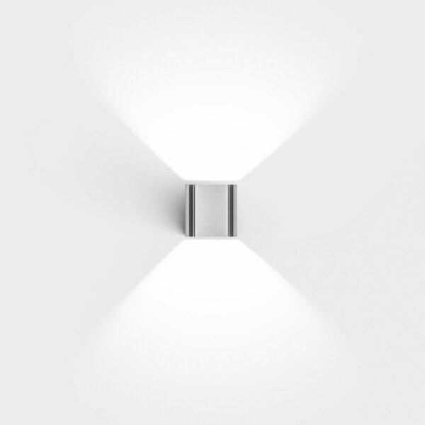 IP44.de Wandaußenleuchte Intro rostfreier Edelstahl Frontansicht