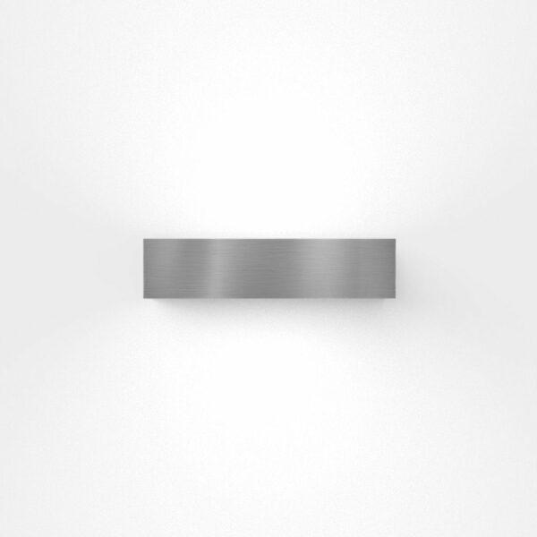 IP44.de Wandaußenleuchte Lumen Down rostfreier Edelstahl Frontansicht