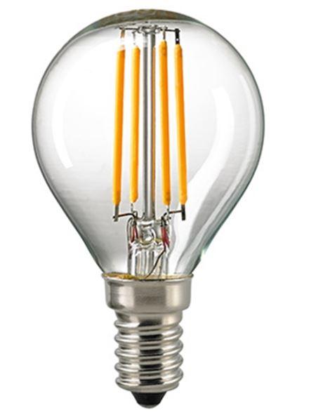 Sigor 4,5 W LED-Filament Kugel Klar E14 2700 K Dim / ersetzt 40 W - Lampen & Leuchten