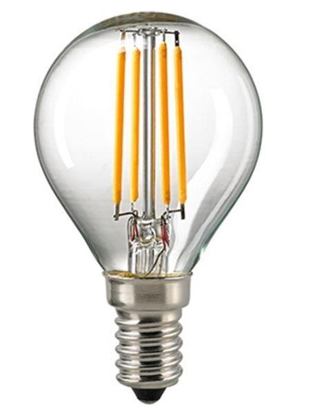 Sigor 4 W LED-Filament Kugel Klar E14 2700 K / ersetzt 40 W - Lampen & Leuchten