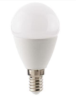 Sigor Leuchtmittel LED 5,5 W, E14, Kugel Opal / ersetzt 40 W - Lampen & Leuchten