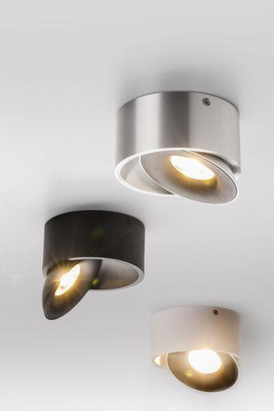 Lupia Licht Deckenstrahler Saturn Nickel Schwarz, Weiß und Aluminium matt