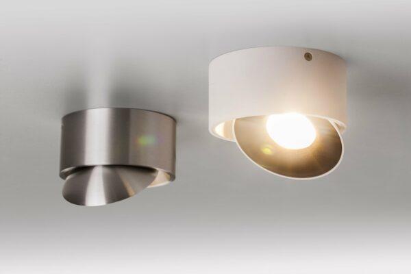 Lupia Licht Deckenstrahler Saturn Aluminium matt und Weiß