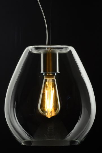 Casablanca Pendelleuchte Bagan Evolution 1-flammig Glas Crystal/Sparkling - Lampen & Leuchten