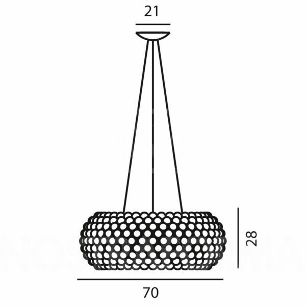Foscarini Pendelleuchte Caboche Grande LED dimmbar - Lampen & Leuchten