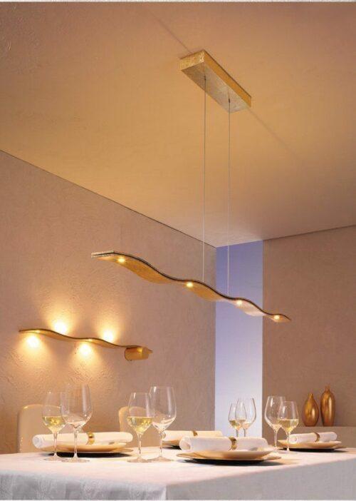 Escale Pendelleuchte Fluid LED Blattgold