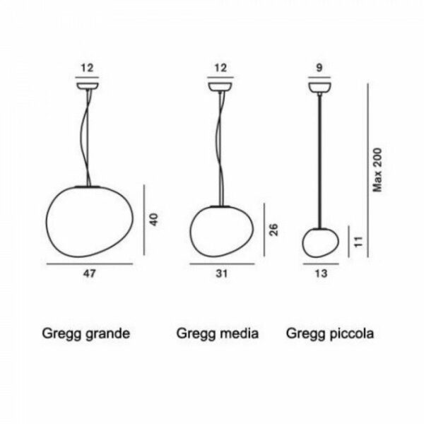 Foscarini Pendelleuchte Gregg Halogen - Lampen & Leuchten