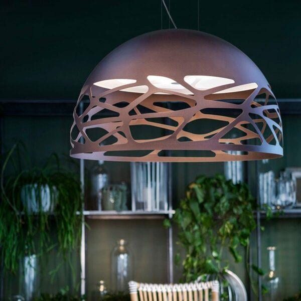 Studio Italia Design Pendelleuchte Kelly Dome kupferfarbene Bronze