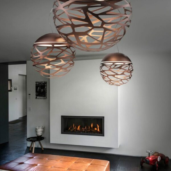 Studio Italia Design Pendelleuchte Kelly Sphere Medium kupferfarbene Bronze