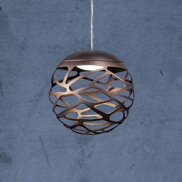 Studio Italia Design Pendelleuchte Kelly Sphere kupferfarbene Bronze