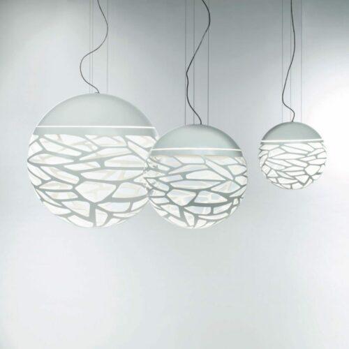Studio Italia Design Pendelleuchte Kelly Sphere Medium Weiß matt