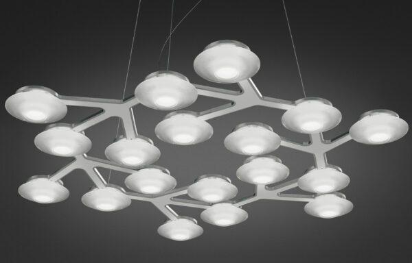 Artemide Pendelleuchte NET Circle LED Silber