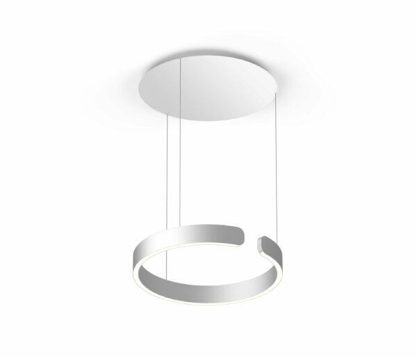 Occhio Pendelleuchte Mito sospeso 40 up variable narrow Silber matt