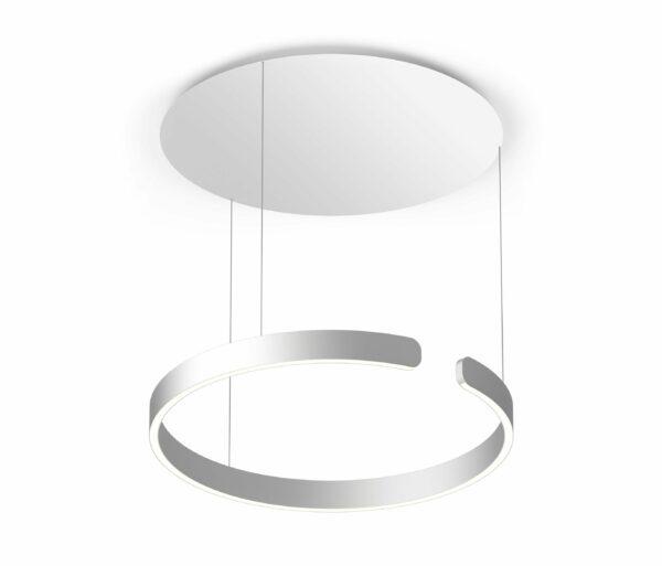 Occhio Pendelleuchte Mito sospeso 60 up fix wide Silber matt