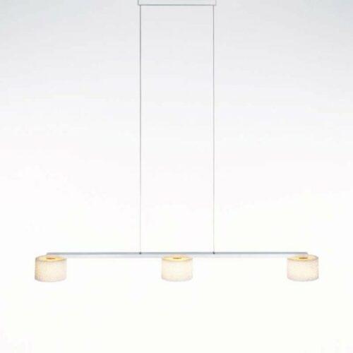Serien Lighting Pendelleuchte Reef LED Suspension 3 Aluminium gebürstet