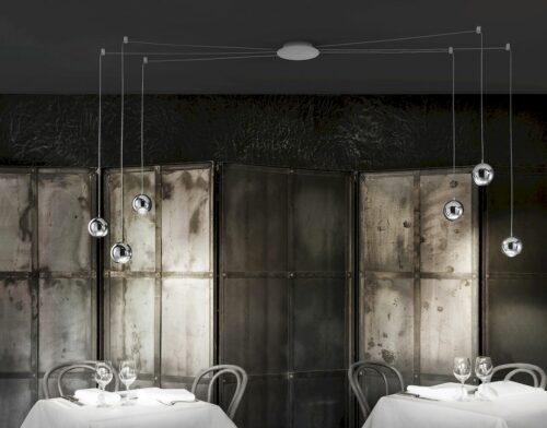 Studio Italia Design Pendelleuchte Spider 6-flammig - Pendelleuchten Innen