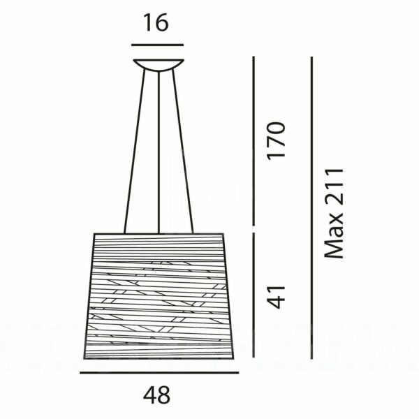Foscarini Pendelleuchte Tress Grande LED - Stehleuchten Innen