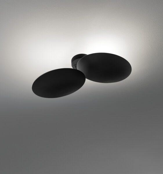 Lodes Wandleuchte Puzzle Round Double Schwarz