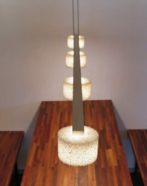 Serien Lighting Pendelleuchte Reef LED Suspension 4 Aluminium poliert