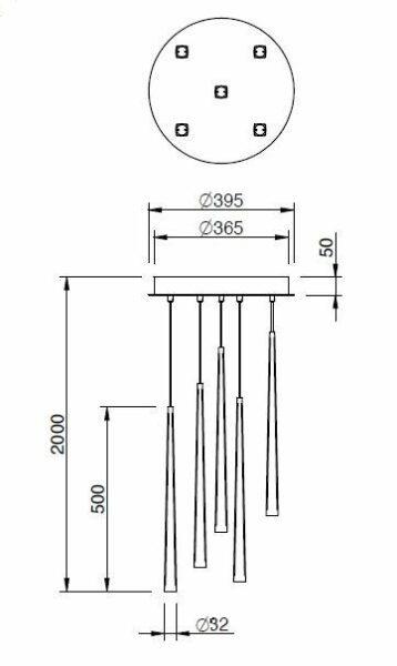 Schmidt Leuchten Pendelleuchte Lucid XL Chrom - Lampen & Leuchten