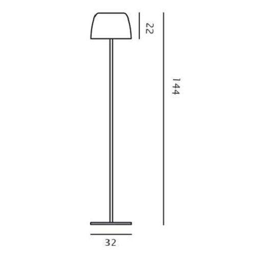 Foscarini Stehleuchte Lumiere XXL Chrom - Lampen & Leuchten