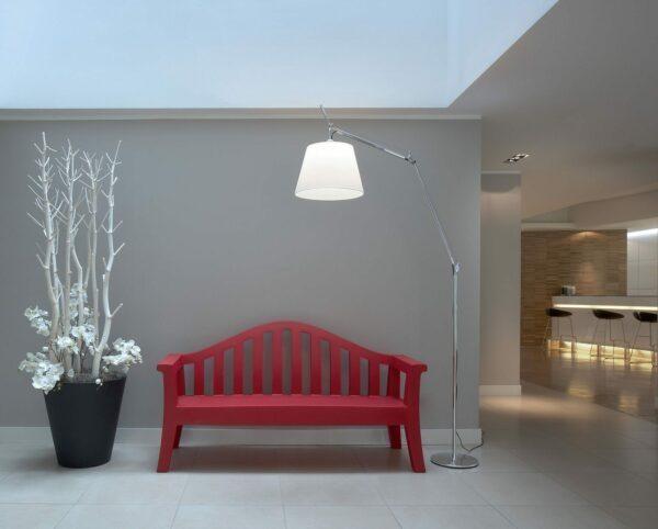 Artemide Stehleuchte Tolomeo Mega Terra LED mit Schnurdimmer Aluminium