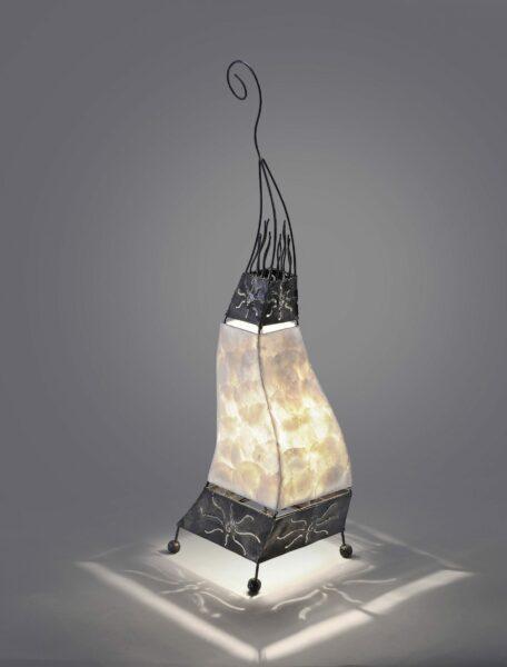 Paul Neuhaus Tischleuchte Abuja Afrika Weiß - Lampen & Leuchten