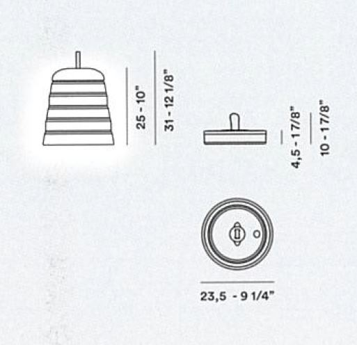 Foscarini Tischleuchte Cri Cri für den Außenbereich - Stehleuchten Innen
