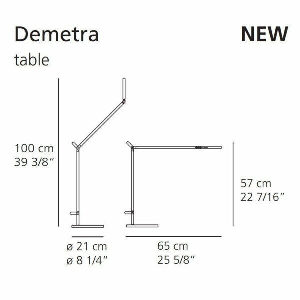 Artemide Tischleuchte Demetra Maße