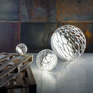 Studio Italia Design Tischleuchte Kelly Sphere Mini Weiß matt