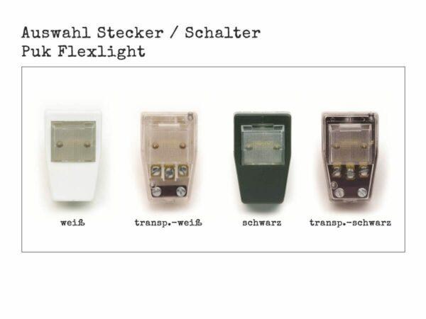 Top Light Puk Flex Steckdosenlampe LED oder Halogen Auswahl Stecker mit Schalter