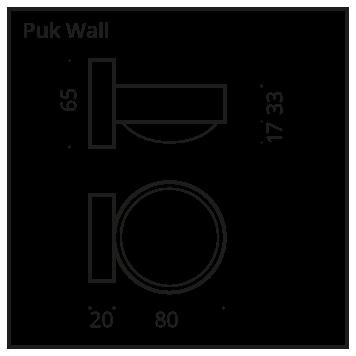 Top Light Wandleuchte Puk Wall Maße