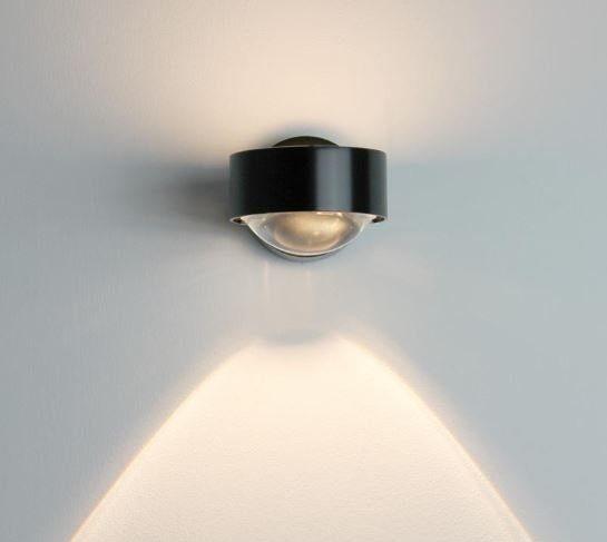 Top Light Wandleuchte Puk Wall LED Schwarz