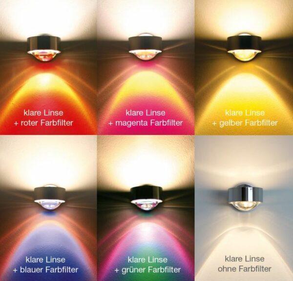 Top Light Wandleuchte Puk Wall Farbfilter