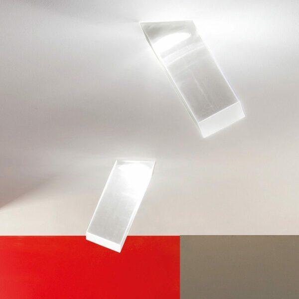Studio Italia Design Wand- und Deckenleuchte Beetle Cube 60° Weiß