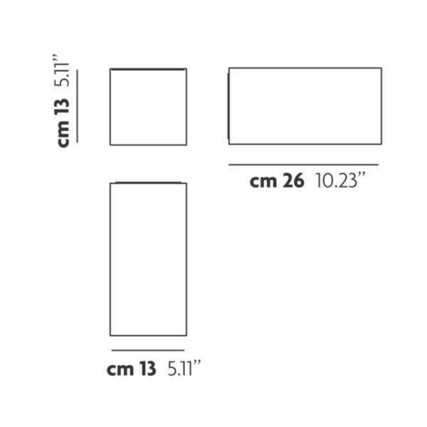 Studio Italia Design Wand- und Deckenleuchte Beetle Cube Medium - Deckenleuchten Innen