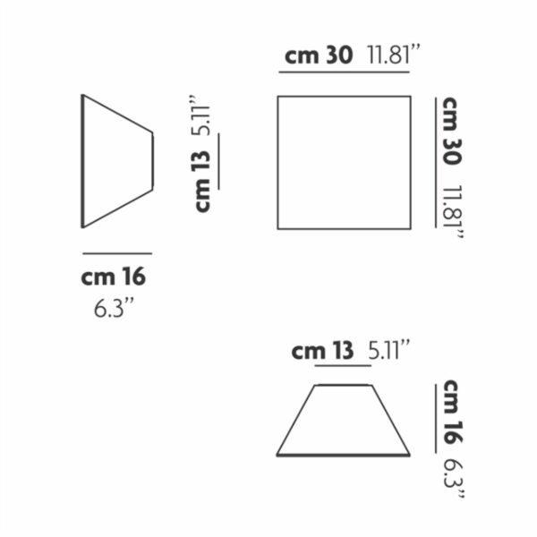 Studio Italia Design Wand- und Deckenleuchte Beetle Pyramid - Deckenleuchten Innen