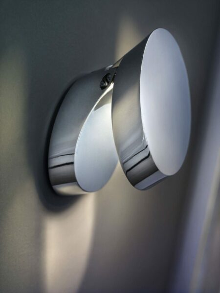 Studio Italia Design Wandleuchte Pin-Up Chrom