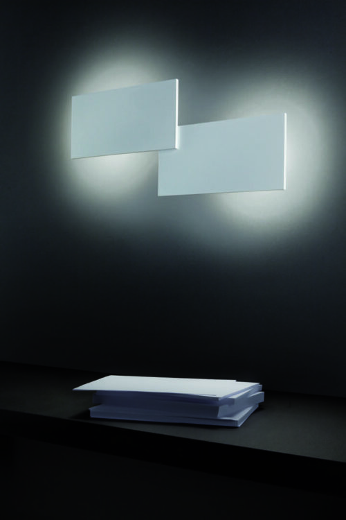 Lodes / Studio Italia Design Wand- und Deckenleuchte Puzzle Double Rectangle - Lampen & Leuchten