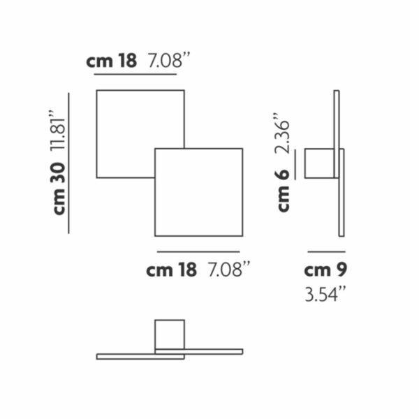 Lodes / Studio Italia Design Wand- und Deckenleuchte Puzzle Square Double - Lampen & Leuchten