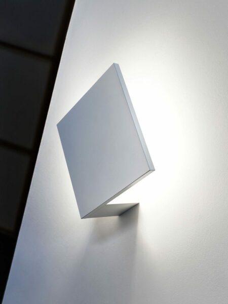 Studio Italia Design Wand- und Deckenleuchte Puzzle Square Single Weiß matt